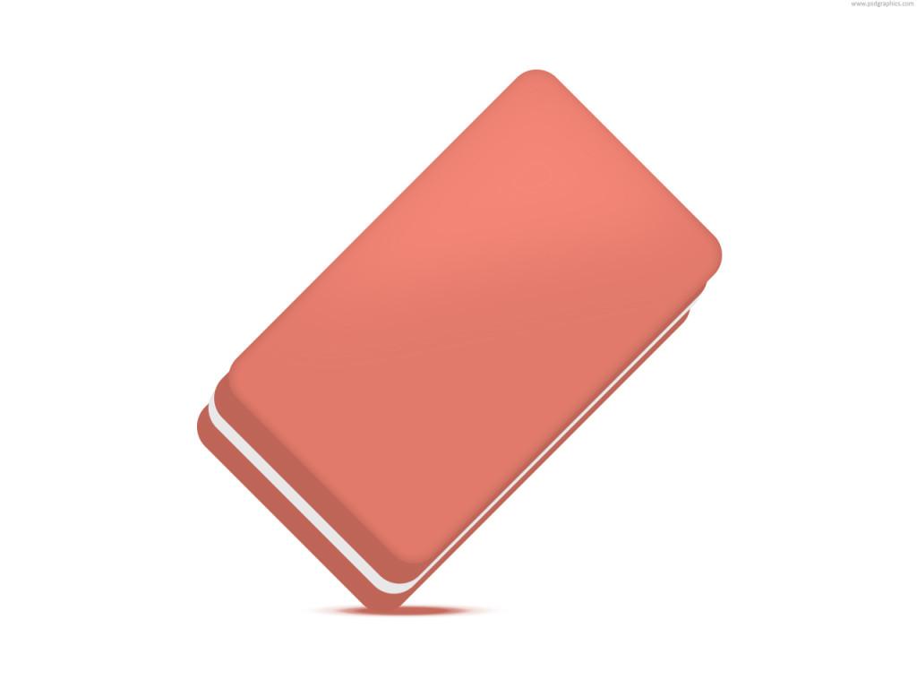 Exquisite pink eraser icon
