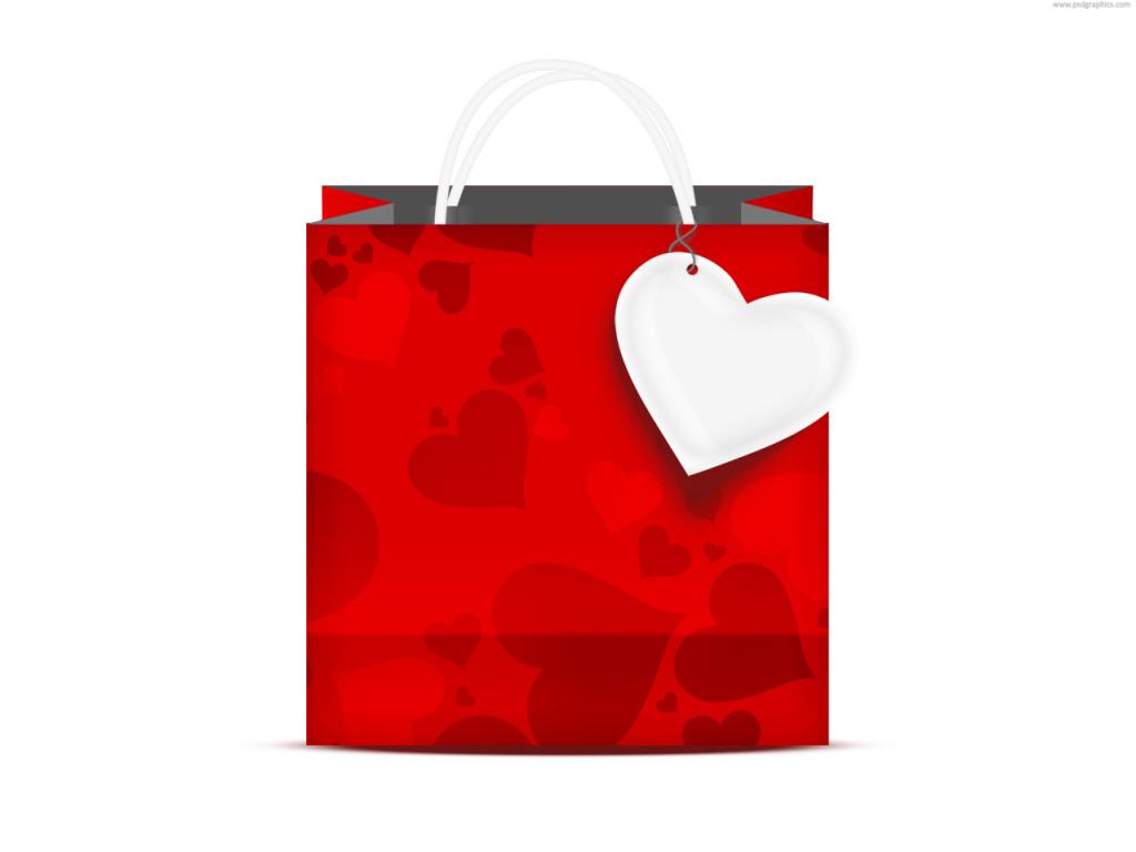 Shopping bag for lover(psd)