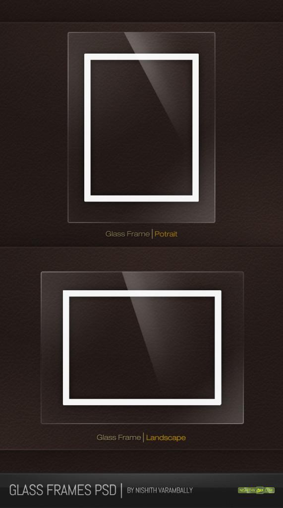 Black Glass Frames PSD