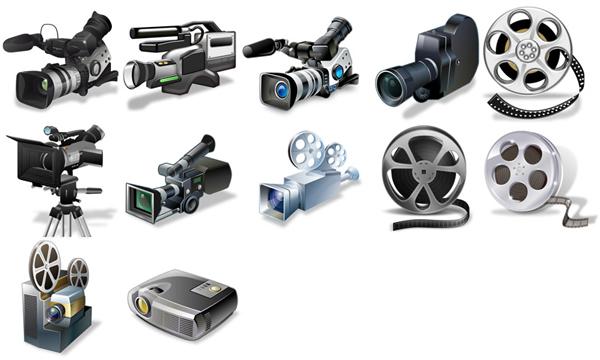 Camera & projector psd