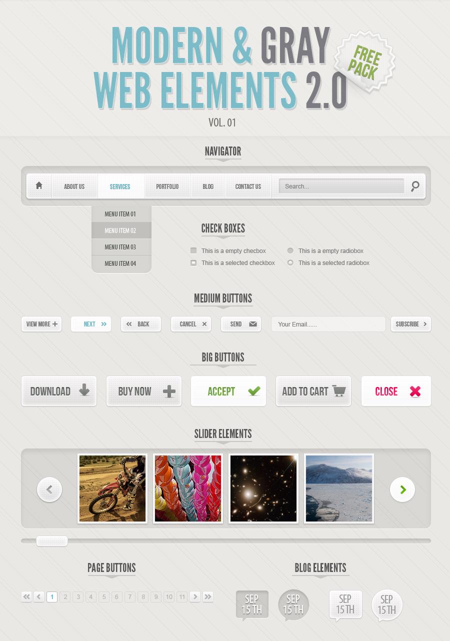 Fashion web elements psd
