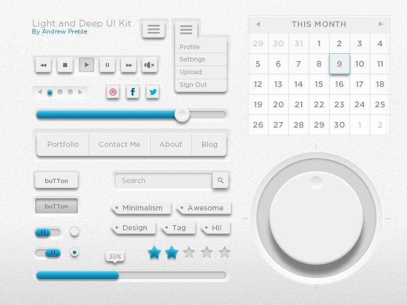 Free & Useful UI Kit(psd)
