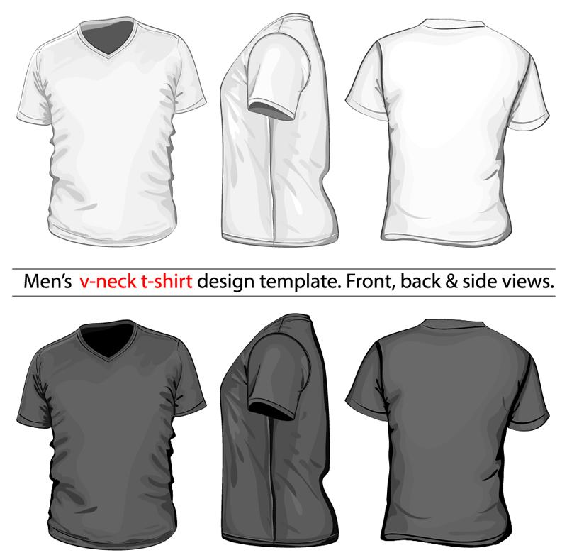 Men S V Neck T Shirt Design Template Vector Free Psd