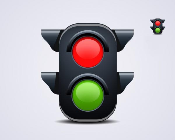 Road traffic signal light psd