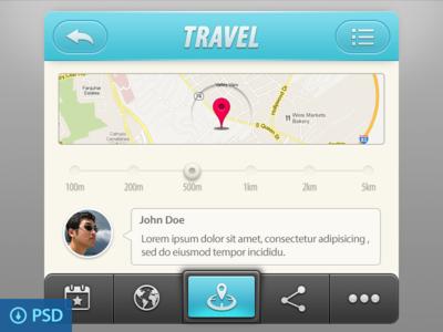 Travel App UI Elements(psd)