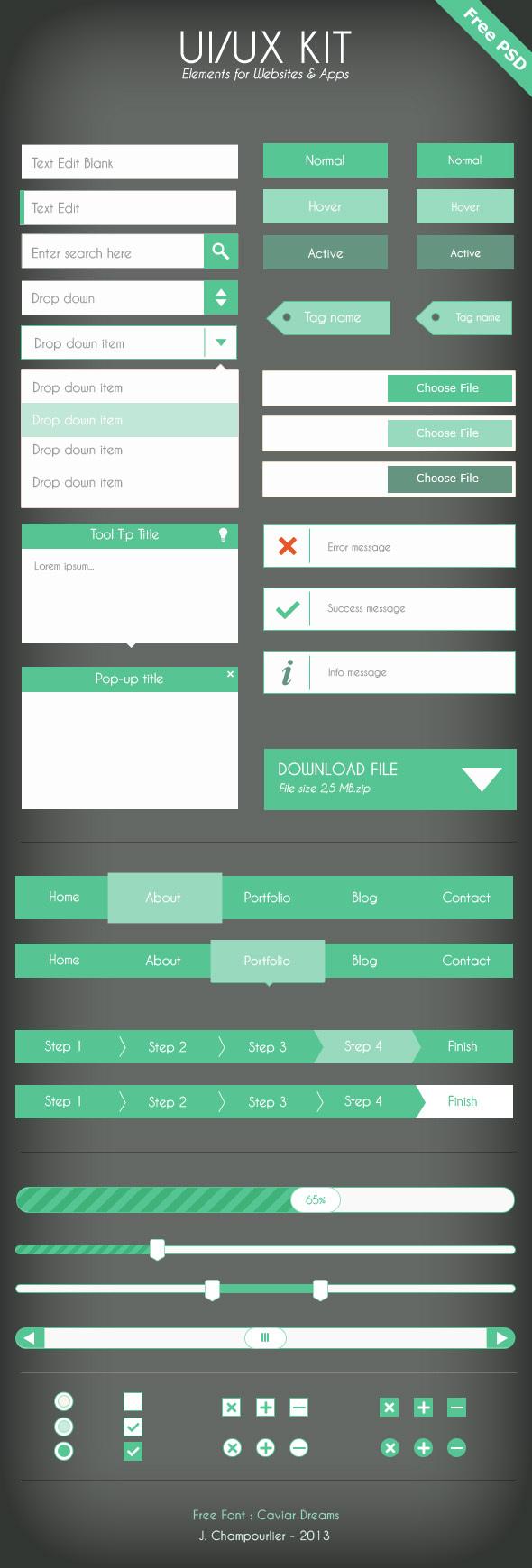 UI UX Kit Elements For Website & APP (PSD) 1
