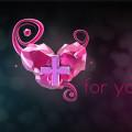 3D Pink Heart Free PSD