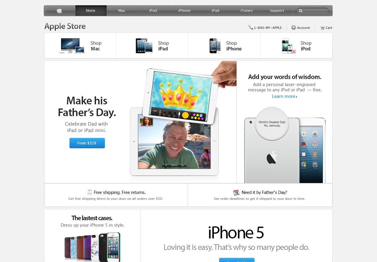 Apple Bento Box UI Free PSD