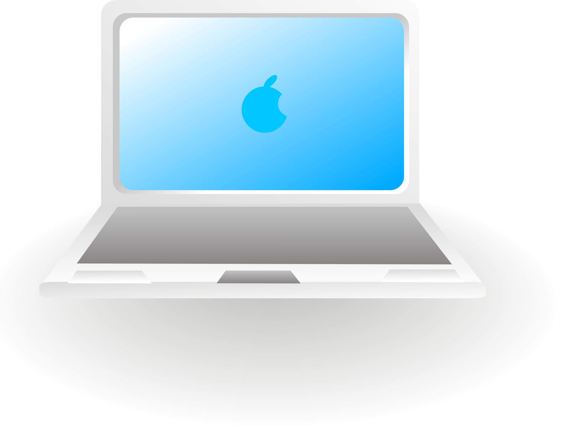 Apple notebook computer-mac laptop vector