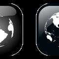 Black earth icon vector