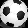 Black white football vector