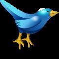Blue cartoon bird,symbol of twitter vector download
