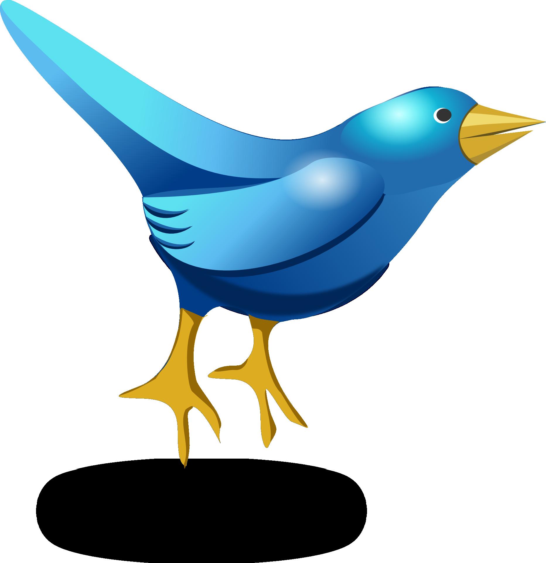 Cartoon blue bird - photo#11