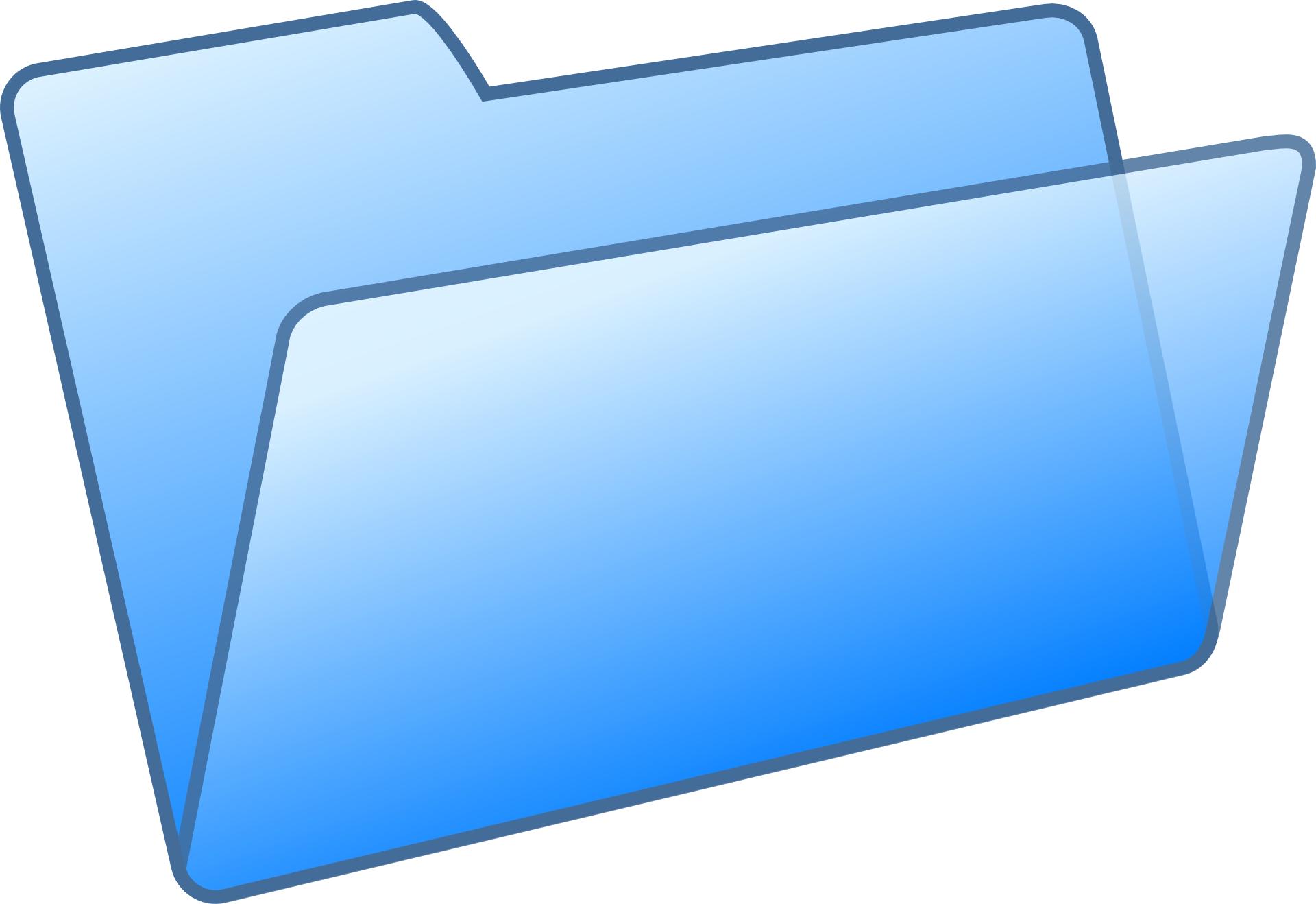 Blue file folder vector