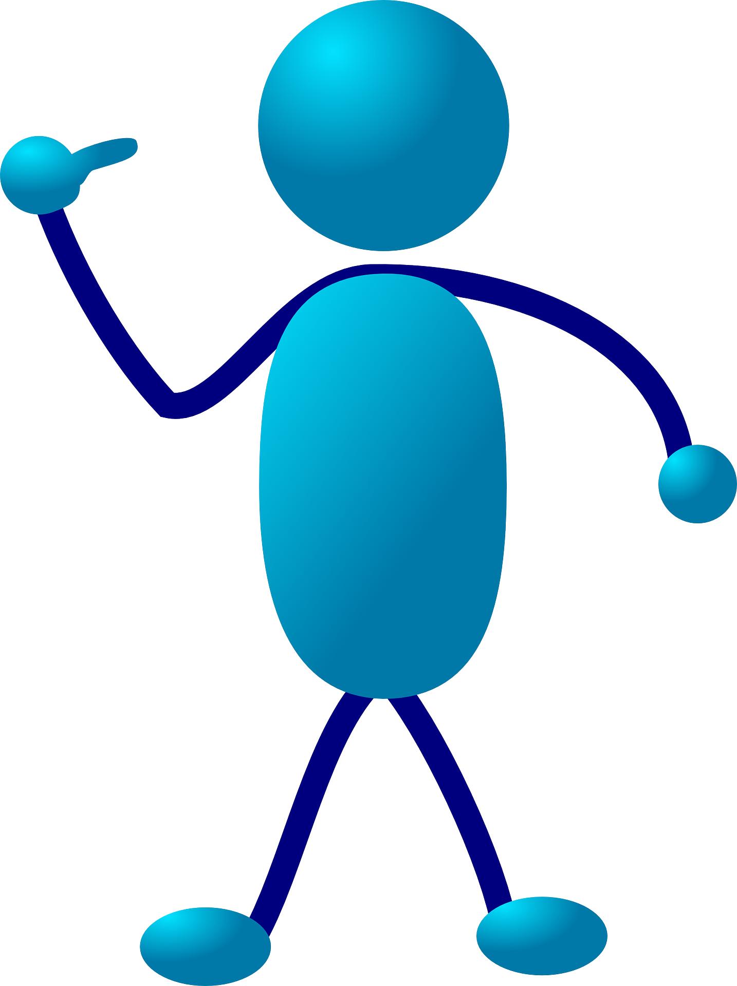 Blue people symbol vector
