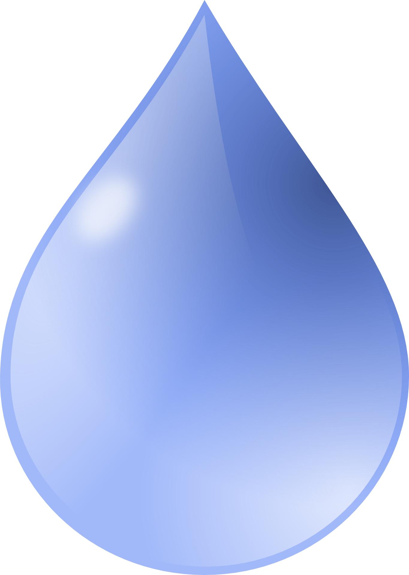 Blue rain drop vector