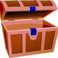 Brown open box vector