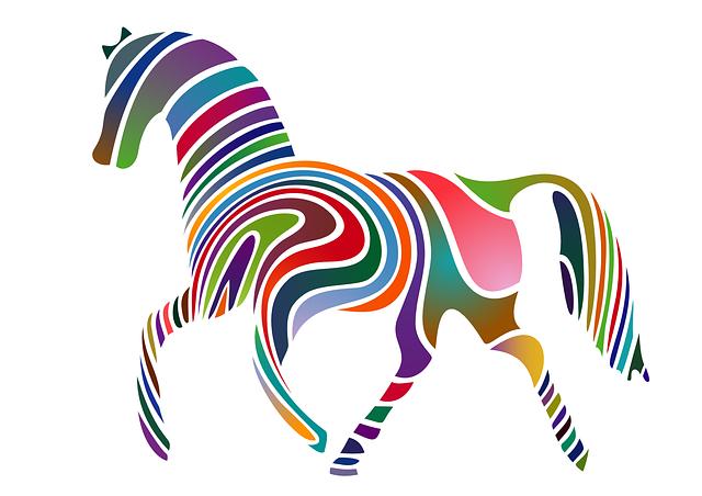 Cartoon animal,zebra horse vector
