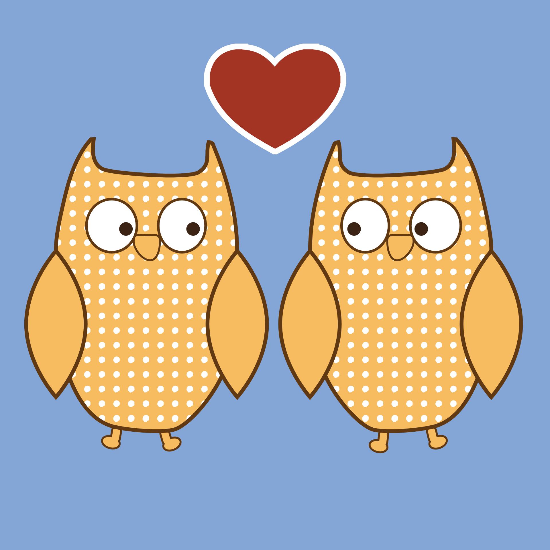 Cartoon love bird,heart vector