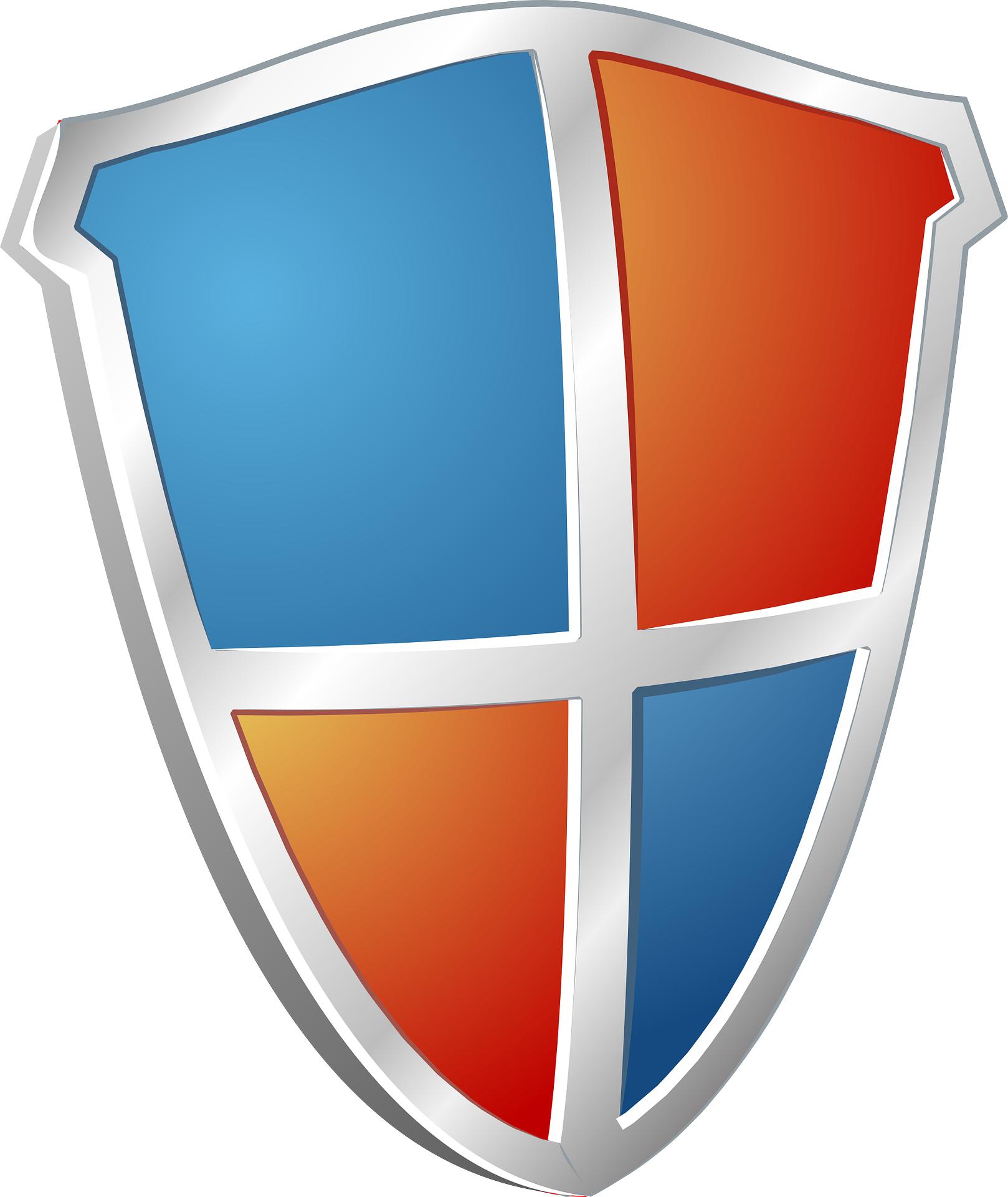 Cartoon shield vector