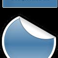 Circle sticker curl vector