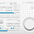 Clean UI kit Free PSD