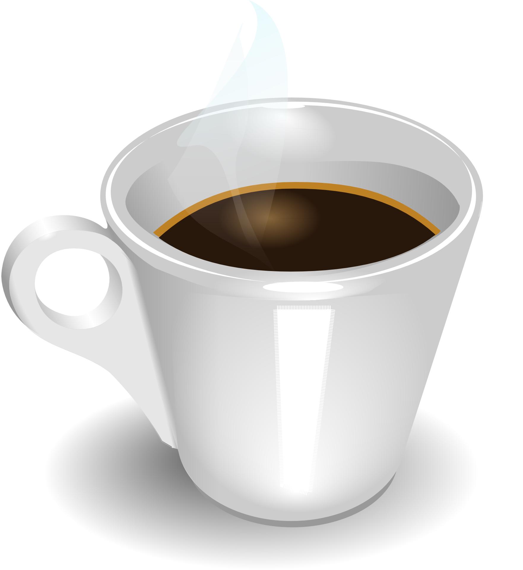 Coffee cup & hot espresso drink vector