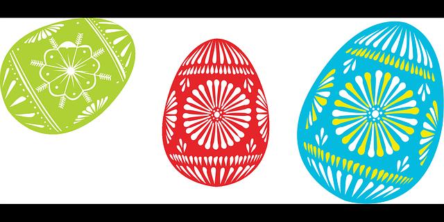 Colour Easter Egg vector