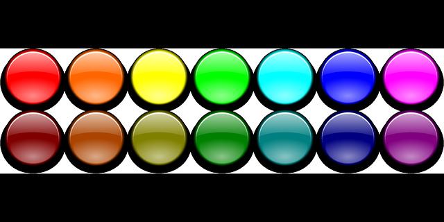 Colour buttons free vector