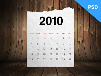 Cool Calendar Freebie PSD