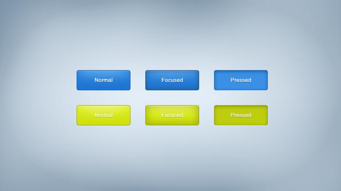 Creative Green Buttons Free PSD