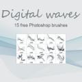 Digital waves- PS brush Download