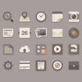 Flat Icons Brownie Theme free PSD