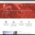 Flat web template Free PSD