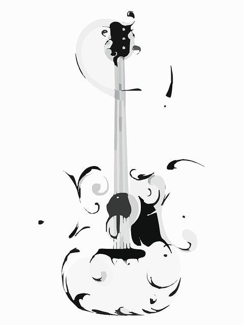 Free Guitar Art Vector