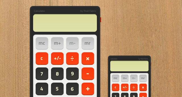 Free Retro Calculator PSD