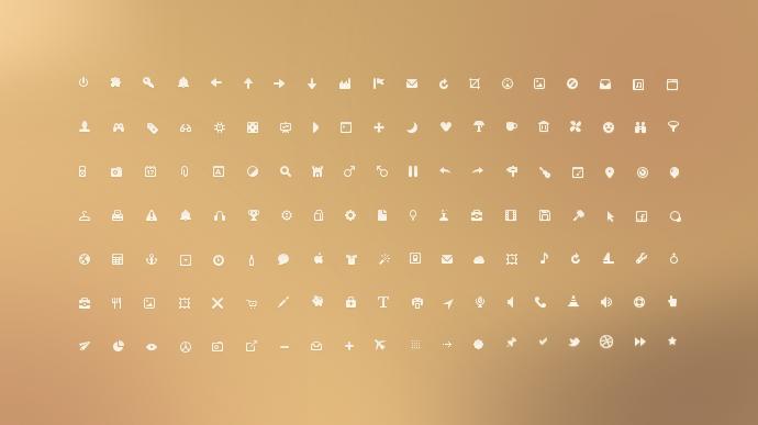 Free Tiny UI Icons PSD