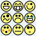 Free cartoon chat face symbols vector