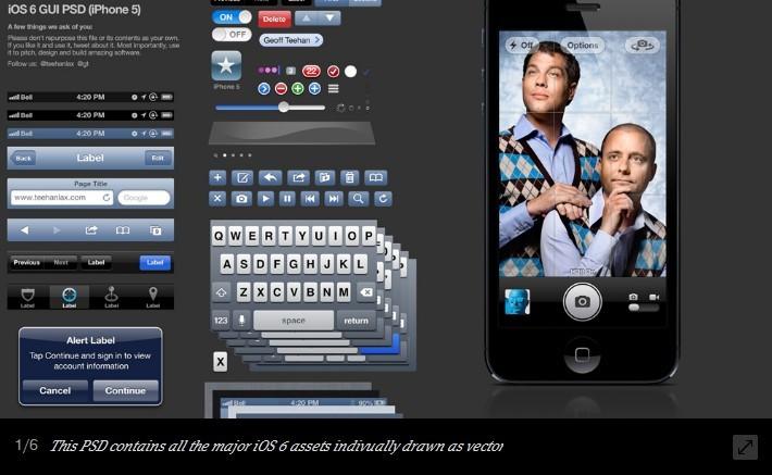 Free iPhone GUI -iOS Elements PSD