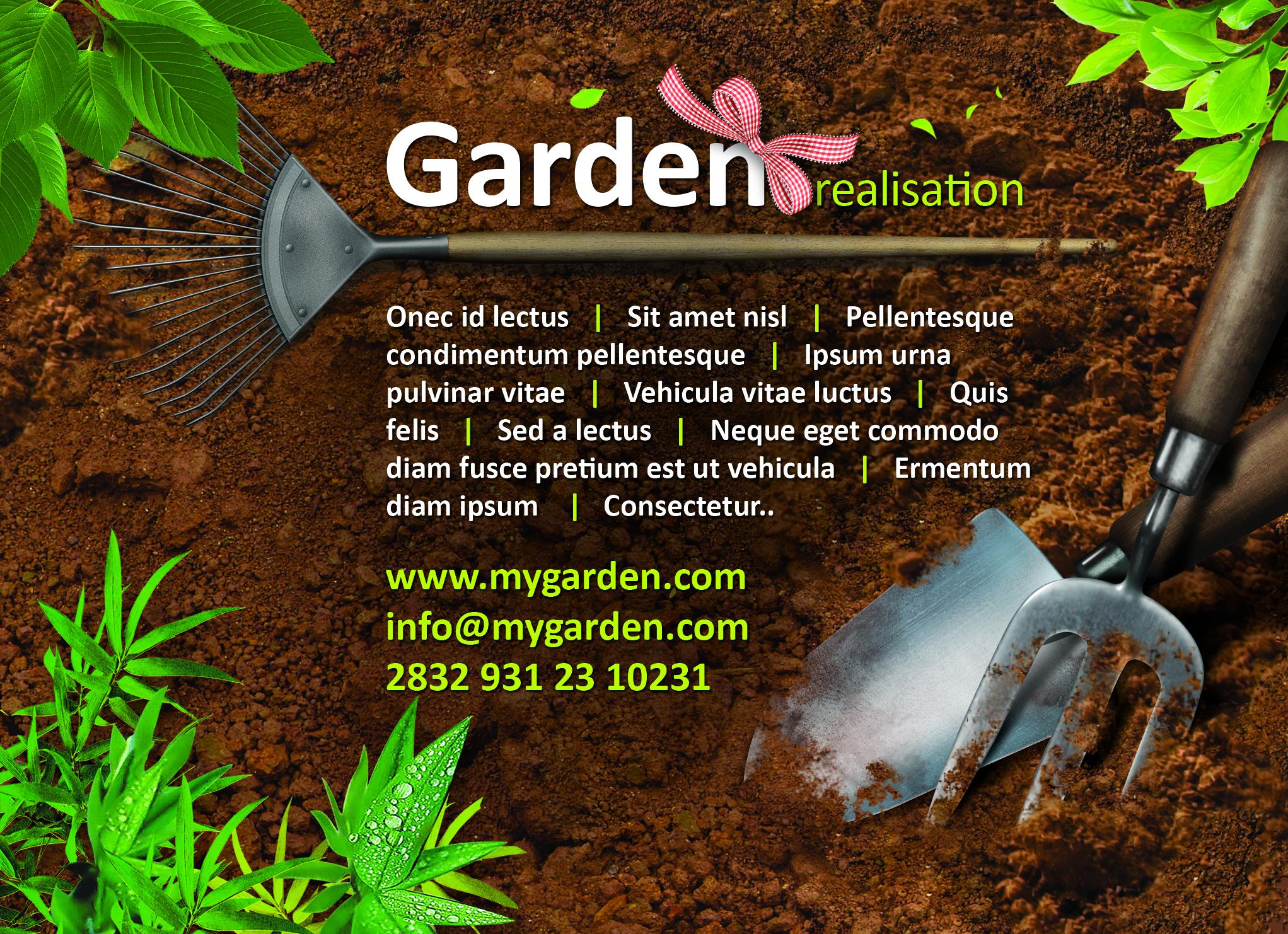 Garden Flyer Free PSD | Free PSD,Vector,Icons