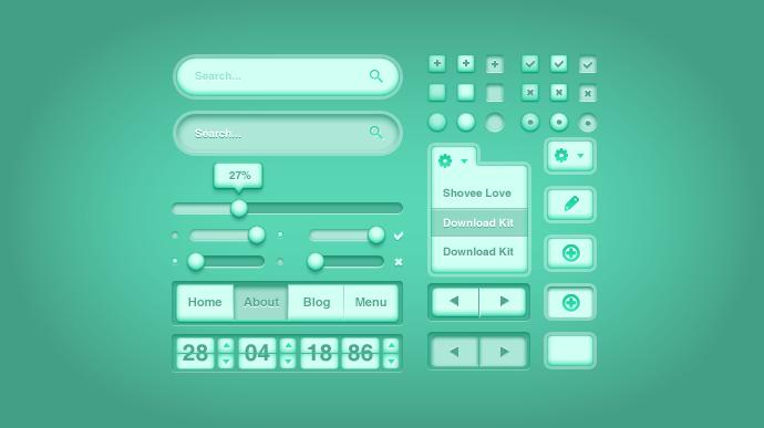 Green Health UI Kit Free PSD
