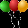 Green Red Orange Balloon Free Vector
