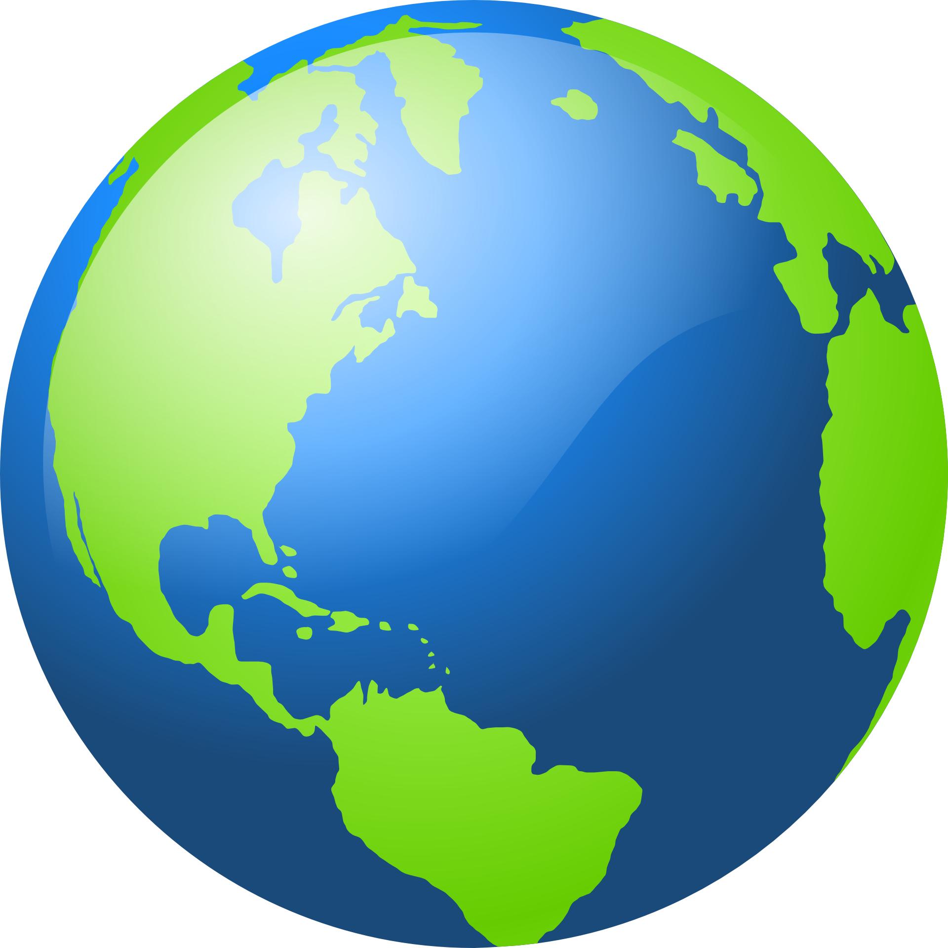 Green & blue earth outline vector