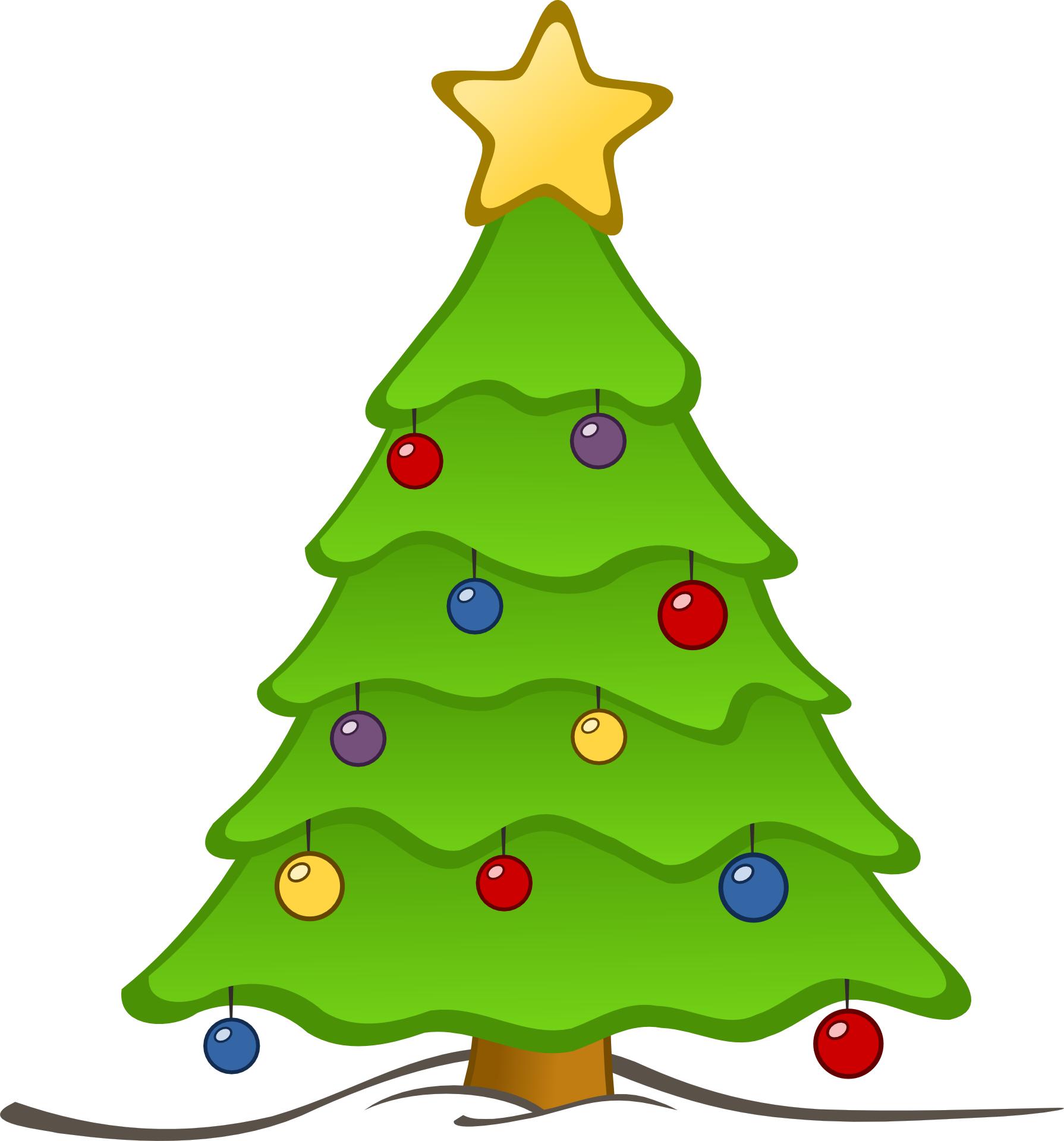 Green christmas tree vector free