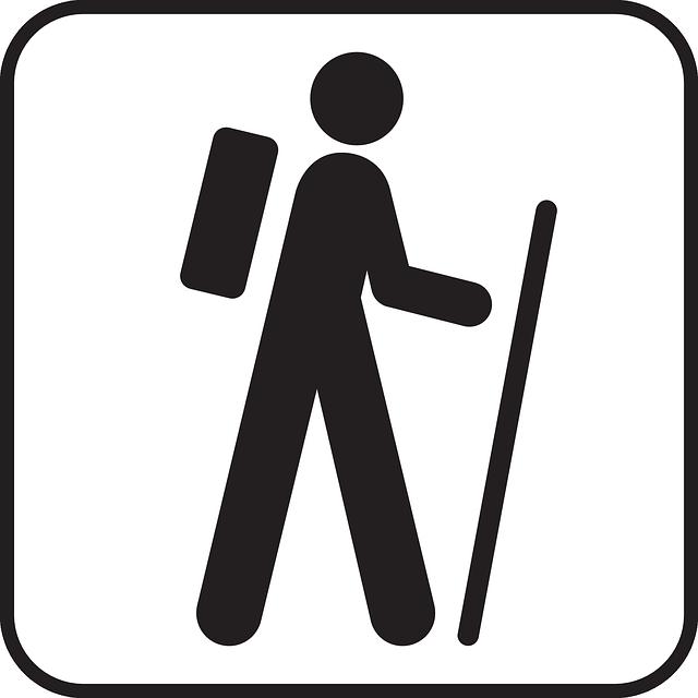 Hiking Symbol Free Vector