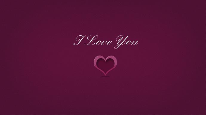 Love you - Heart Free PSD