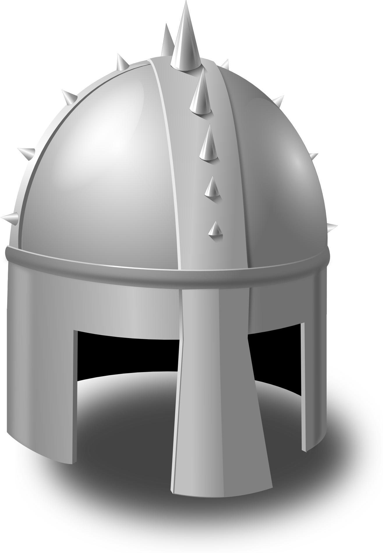 Metal helmet vector