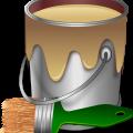 Paint, paint bucket, brush vector download