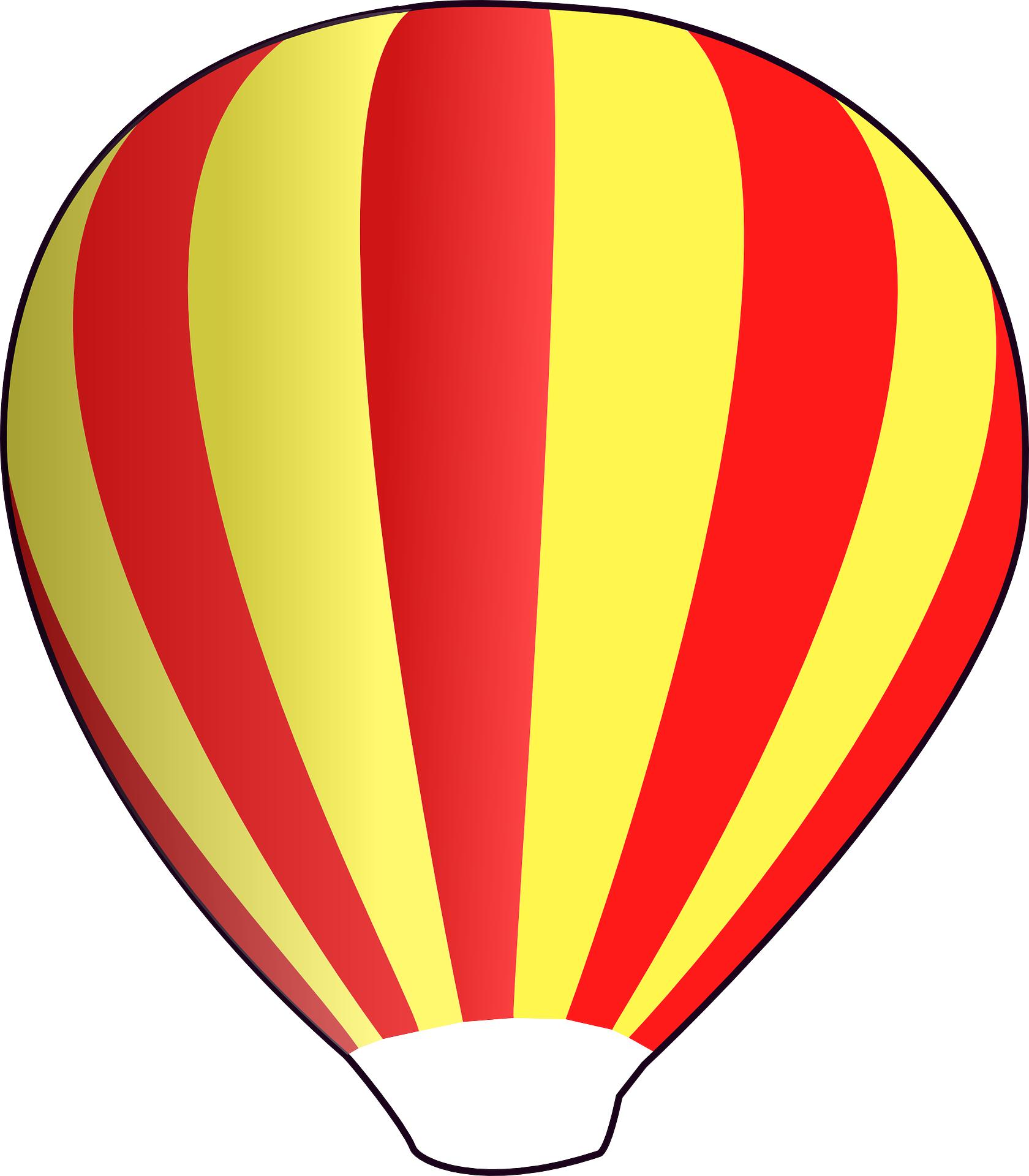 Red hot air balloon vector