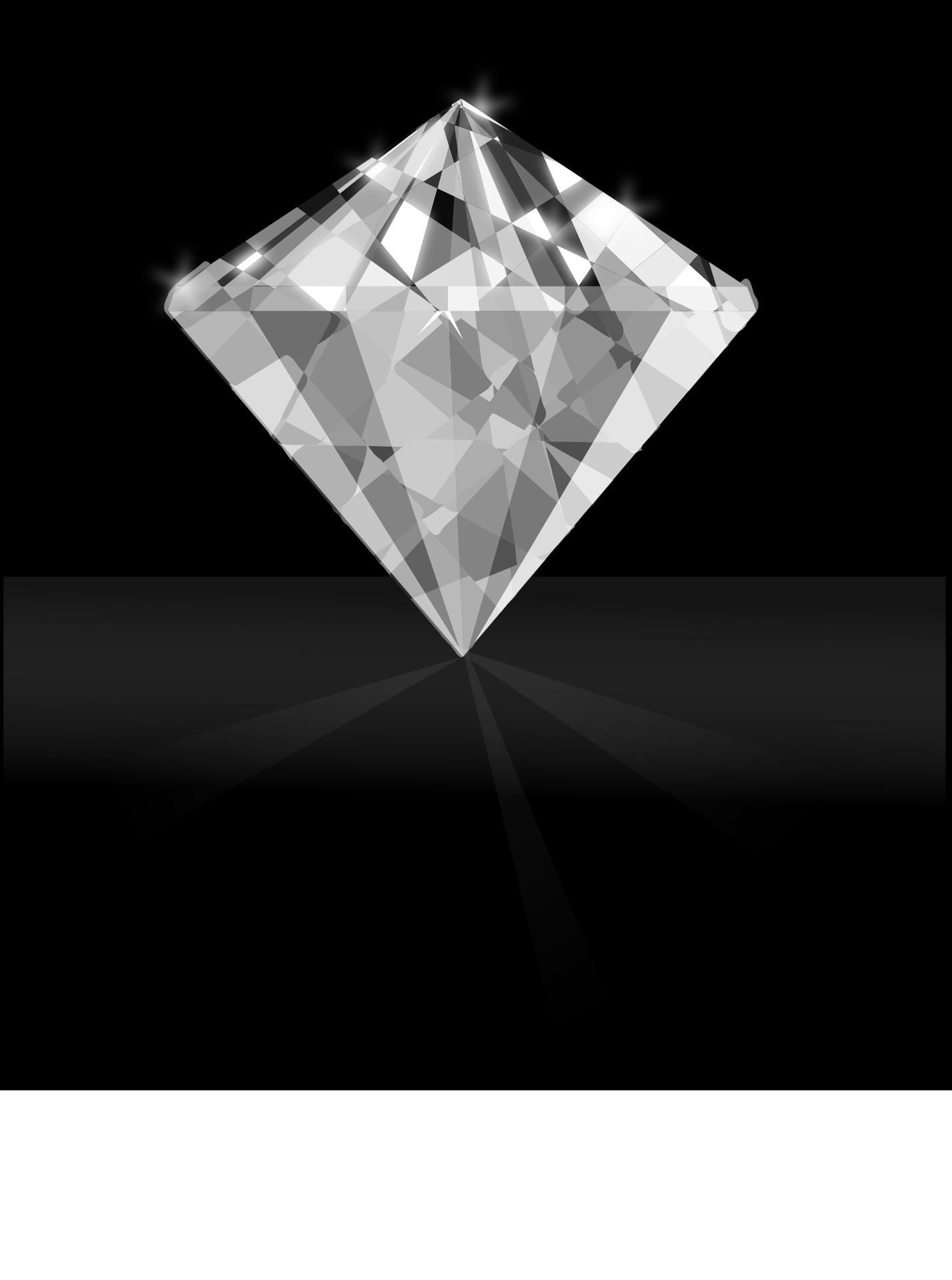 Shimmering Diamond vector-symbol of love